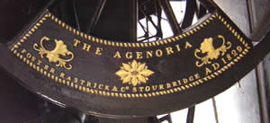 Detail of a wheel on the Agenoria