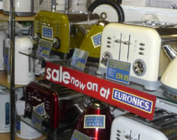Toasters and kettle galore at Geoff Hill Electrical and Gas Superstore