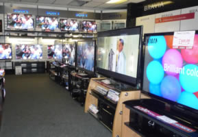 Stunning flat screen TV's at Geoff Hill Electrical and Gas Superstore