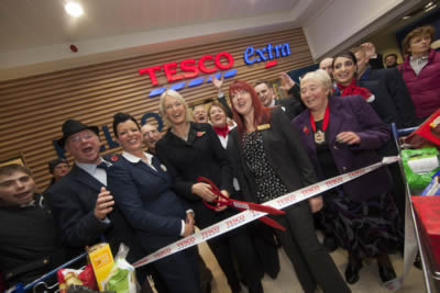 Official opening of new Tesco Extra store in Stourbridge
